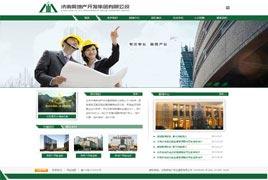济南房地产企业网站建设案例