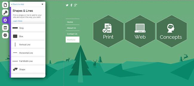 网站平面设计里的形状设计