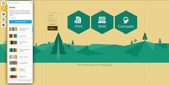 网站平面设计考虑到明亮色