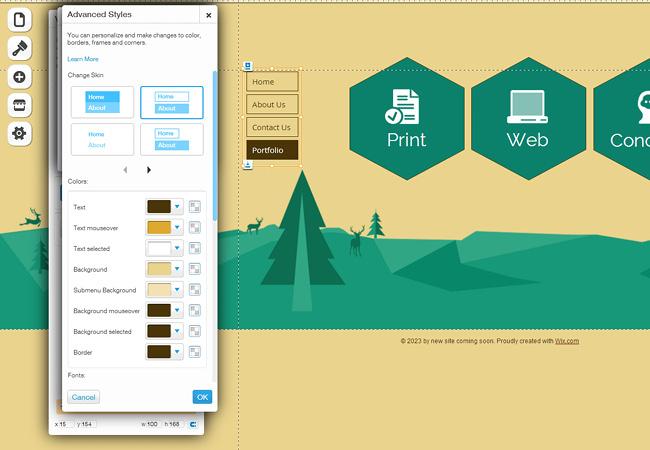 网站平面设计导航简单化