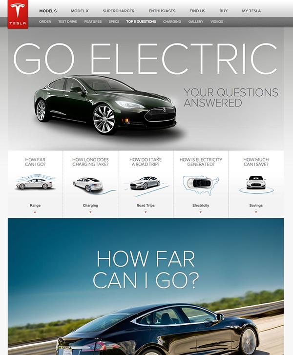 2015网页设计趋势案例Tesla