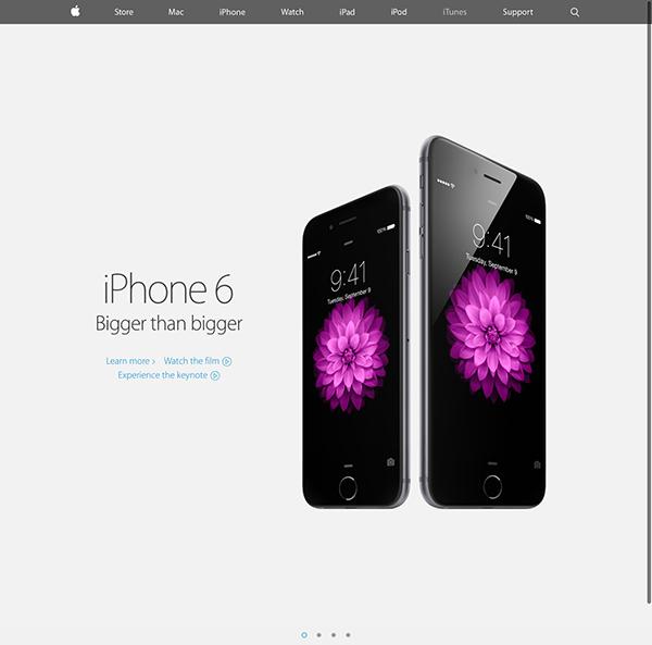 2015网页设计趋势案例Apple