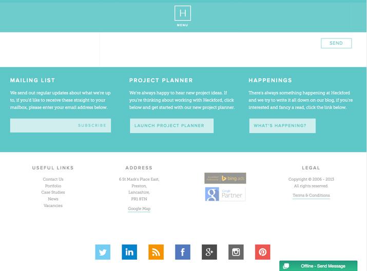 让网页页脚设计链接到你的信息