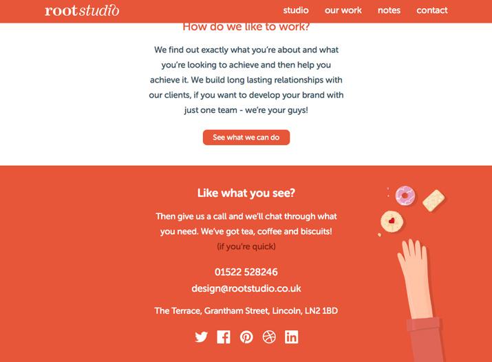 让网页页脚设计包含基本联系信息
