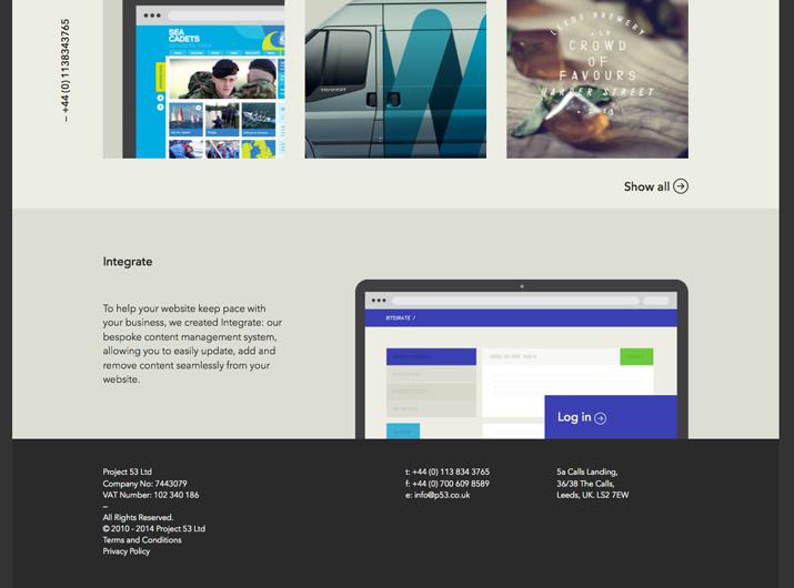 网页页脚设计要注意对比度和可读性