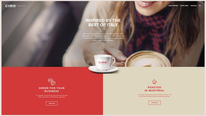 白色文本标题案例之咖啡CIMO