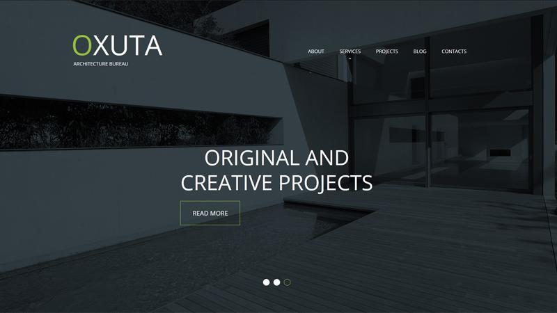 白色文本标题案例之构建的网站设计