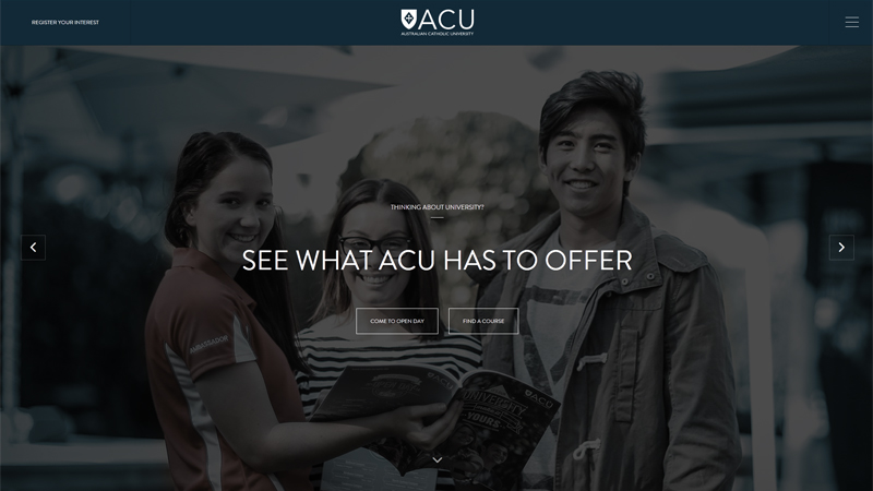 白色文本标题案例之澳大利亚天主教大学