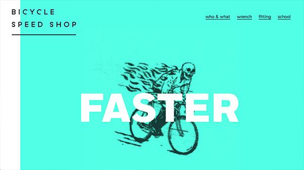 Bicycle Speed Shop 网页设计合理使用动画效果案例