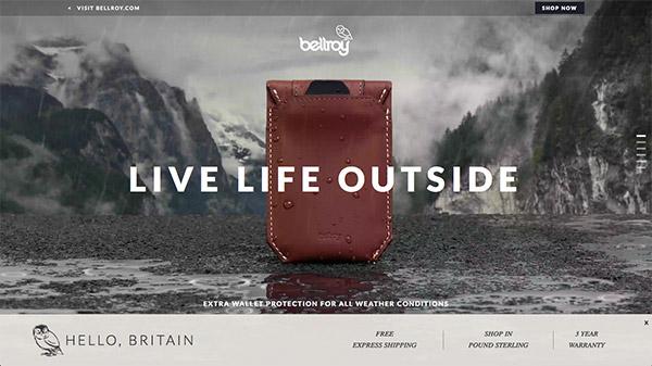 Bellroy 网页设计合理使用动画效果案例