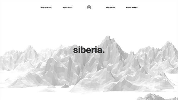 Siberia 网页设计合理使用动画效果案例