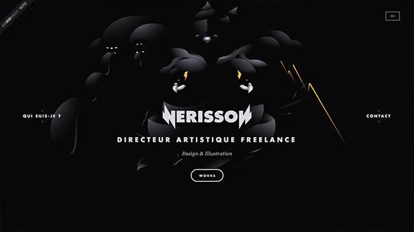 Nerisson 网页设计合理使用动画效果案例