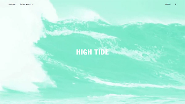High Tide 网页设计合理使用动画效果案例