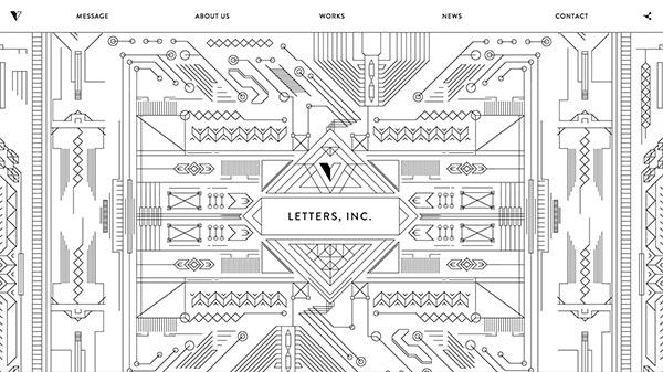 LETTERS, INC. 网页设计合理使用动画效果案例