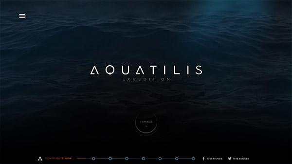 AQUATILIS EXPEDITION 网页设计合理使用动画效果案例