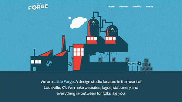 Little Forge 网页设计合理使用动画效果案例